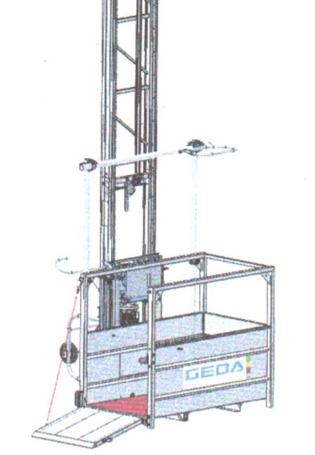 Stavební výtahy GEDA 200 Z